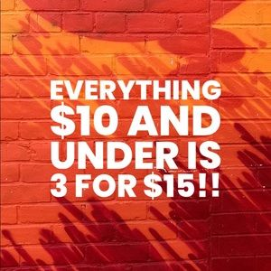 SALE 3/$15